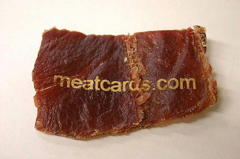 tarjetas de visita comestibles Meatcards