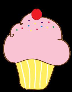 cupcake con guinda y colores