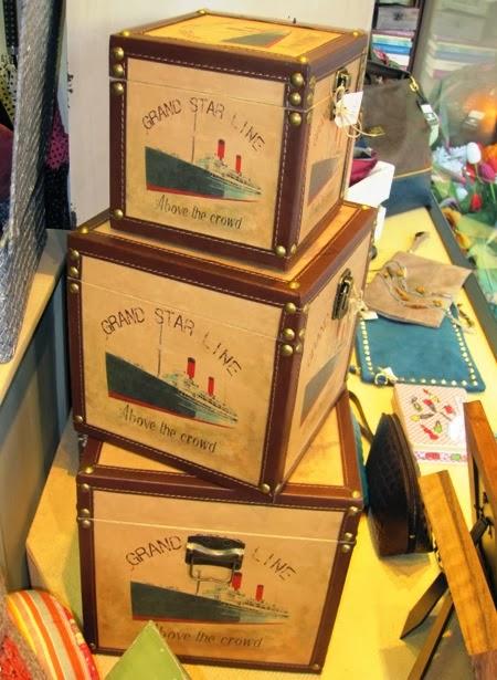 Cajas forma cubo con tapa dibujo barco