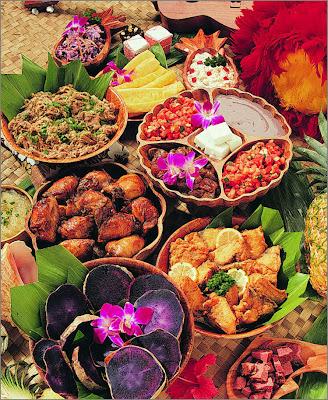 luau; Hawaiian Crab Salad