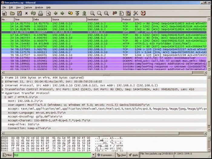 wireshark packet analyzer