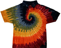 Earth Rainbow Tie Dye Collared Shirt