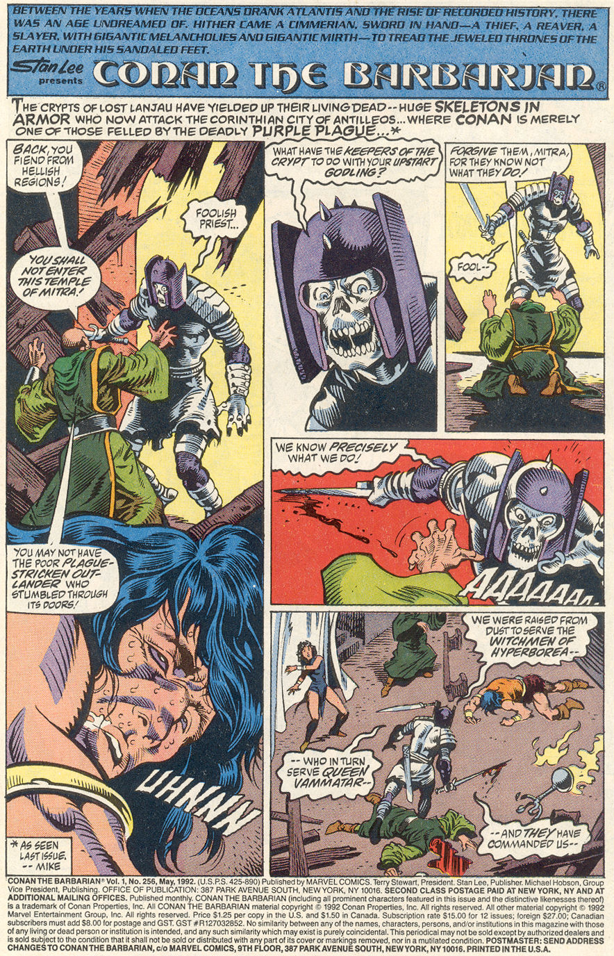 Conan the Barbarian (1970) Issue #256 #268 - English 2