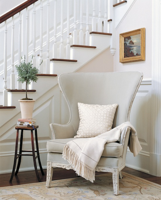 Foyer Accent Chairs : The zhush decorating with neutral colors