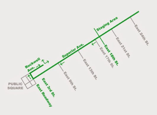 Cleveland St. Patrick's day parade route for 2015