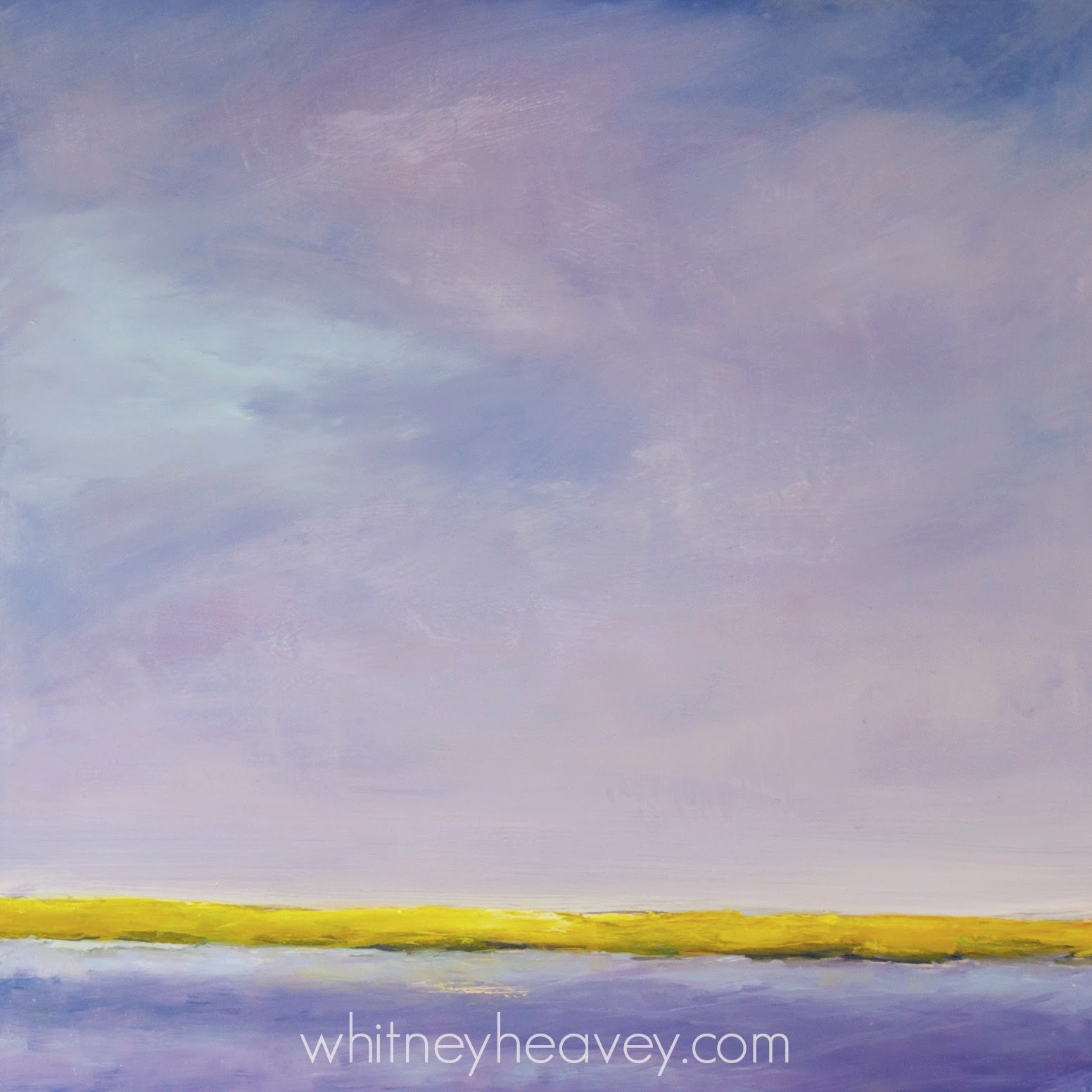 "Seascape oil painting ""Orchid Skies""  by Cape Cod artist, Whitney Heavey"
