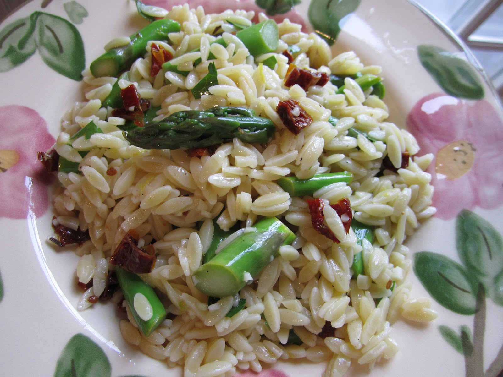lemon thai inspired asparagus salad with fried meyer lemon orzo with ...