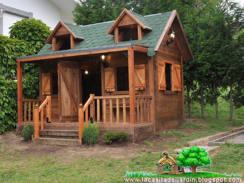 La casita del jard n construcci n paso a paso de una for Casita madera jardin