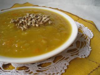 Zupa z dyni po tajsku, z mleczkiem kokosowym