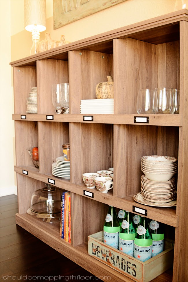 One Bookshelf Styled Three Ways