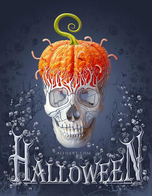 Membuat Kartu Halloween di Photoshop