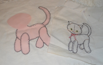 vintage embroidery pattern to applique