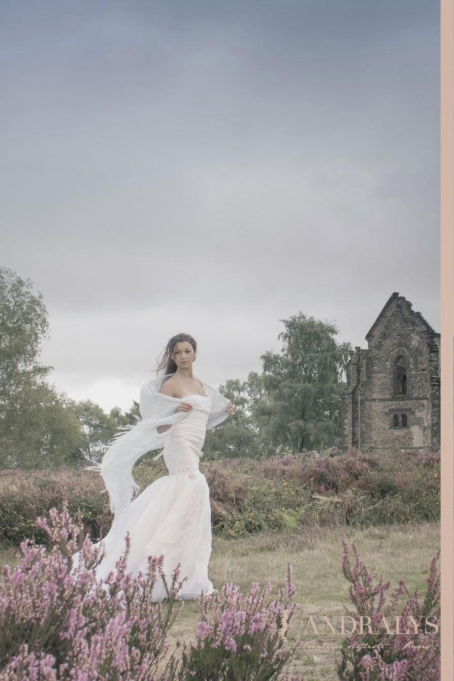 Robe de mariée sirène hivernale