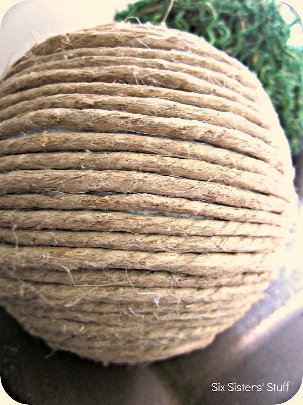 Decorative Rope Balls Pleasing Diy Pottery Barn Inspired Decorative Balls Tutorial  Six Sisters Decorating Design