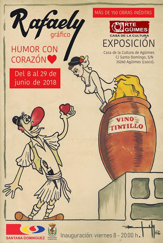 """""""Rafaely Gráfico. Humor con corazón"""" en la Sala de Arte Agüimes"""
