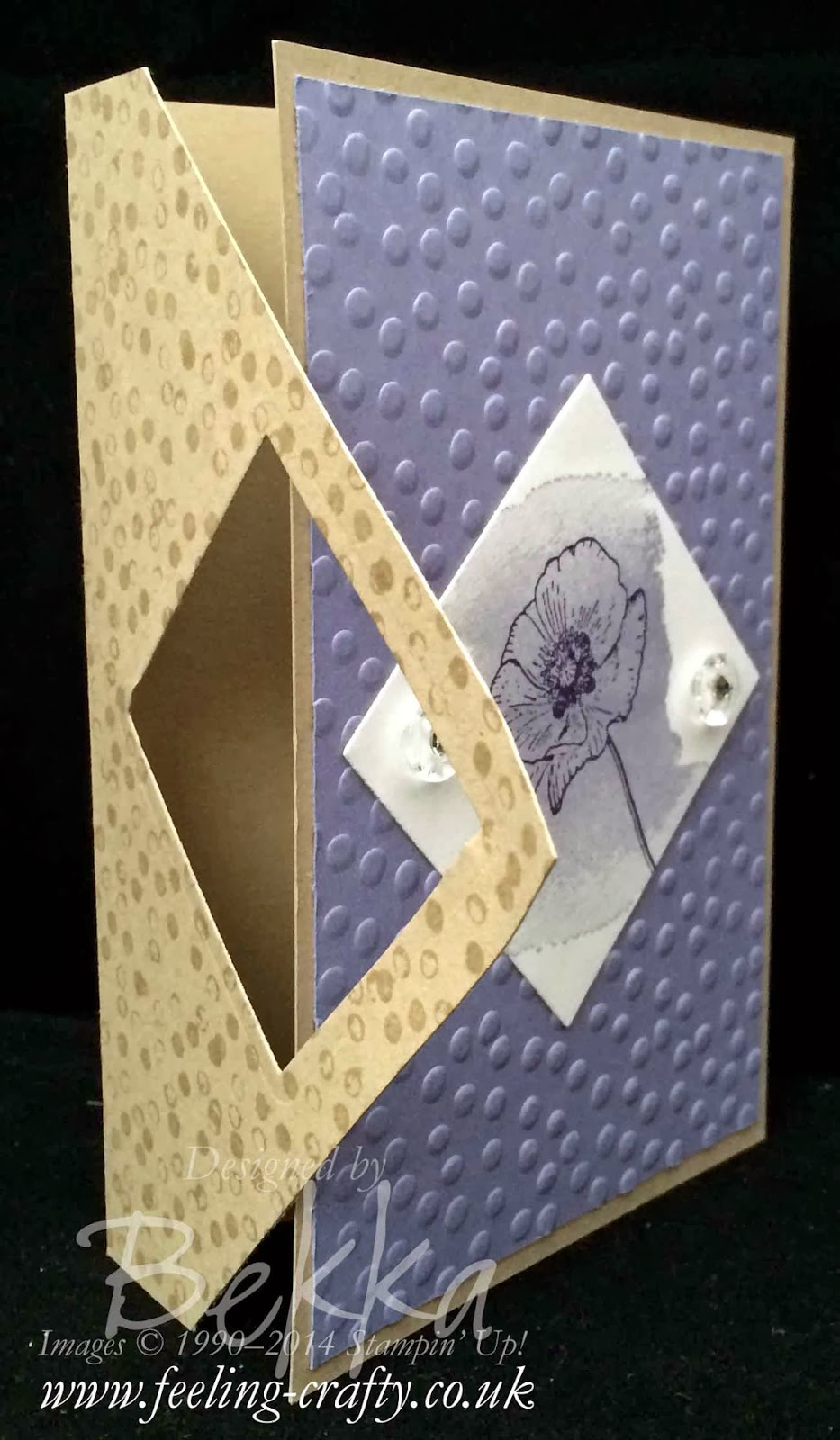 Happy Watercolor Fancy Fold Card by UK based Stampin' Up! demonstrator Bekka Prideaux - she has a card class featuring this stamp set!  If you can't go in person her class is available by post - must check it out
