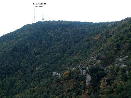 Les antenes del Castellar des del Collet de la Guàrdia