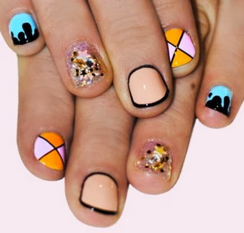 Nail Art For Short Nails At Home: Nice Nail Art Designs Short Nails