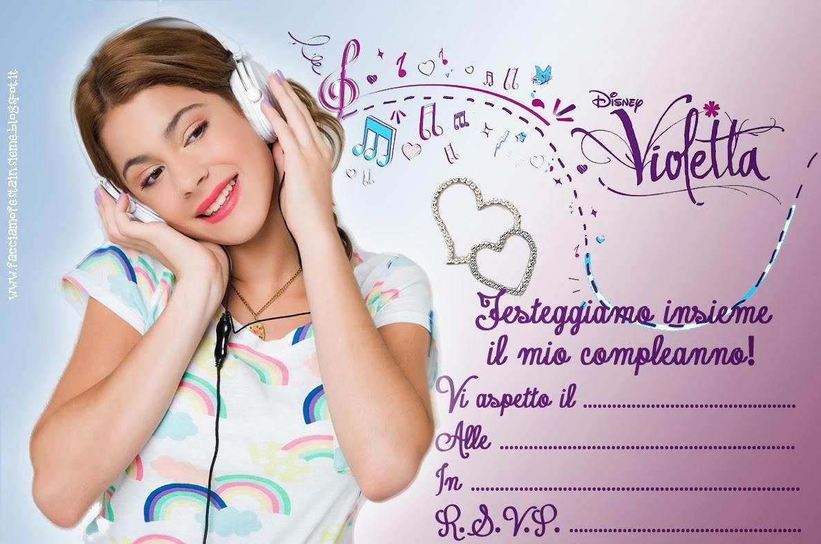 Favorito Invito di compleanno Violetta ~ Facciamo festa insieme II54
