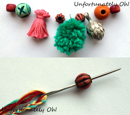 how to make a pom pom and tassel necklace
