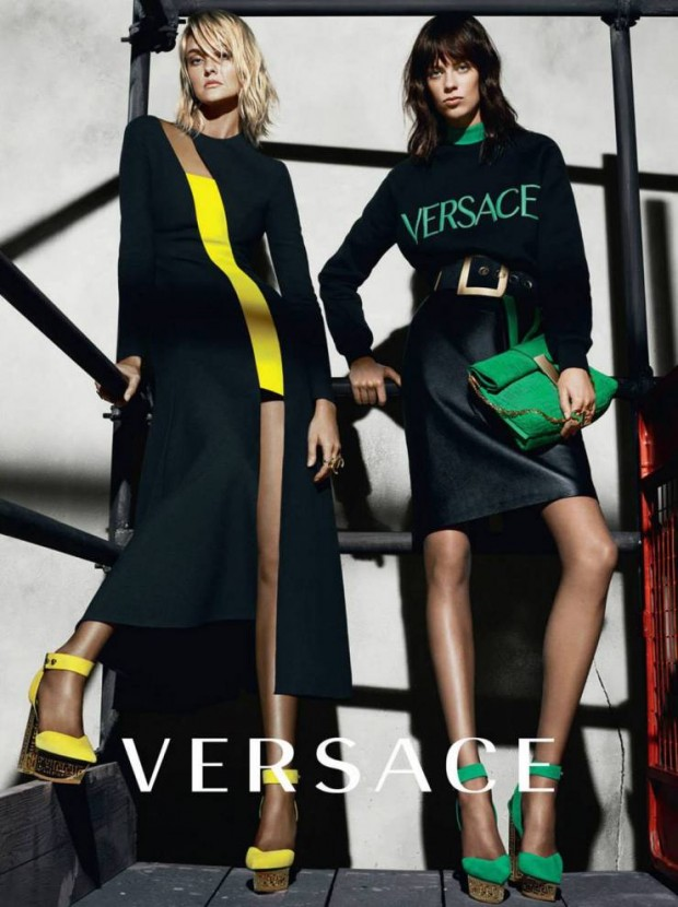 Caroline Trentini & Lexi Boling by Mert Alas & Marcus Piggott for Versace Fall-Winter 2015-2016 | Ses Rêveries