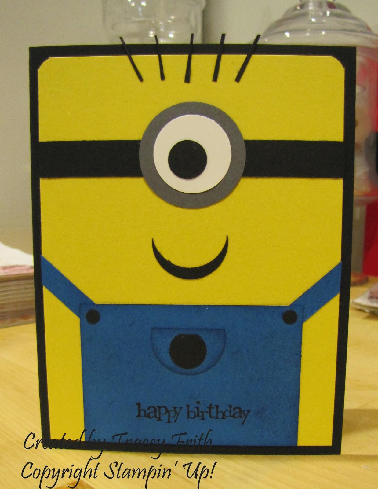 Sherrys stamped treasures minion birthday card minion birthday card bookmarktalkfo Choice Image