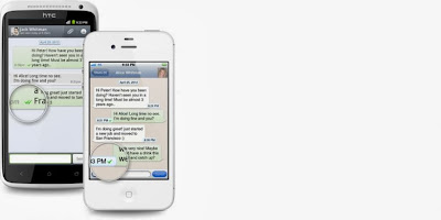 Keterangan tanda centang di Whatsapp
