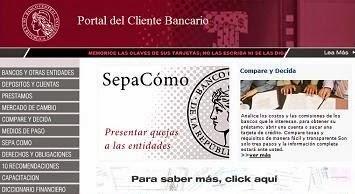 Portal del cliente bancario