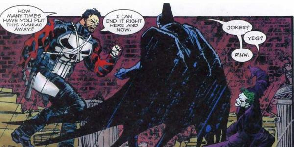 Punisher vs Batman dan Joker