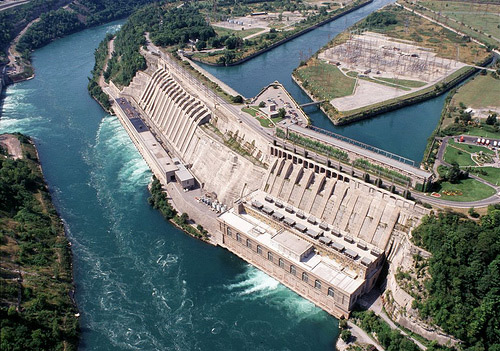 Hydroelectric Energy-The Sir Adam Beck Generating Complex in Ontario.