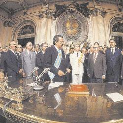 Asunción de Raul Alfonsin