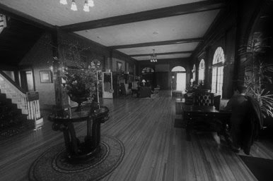 The lobby of the Stanley Hotel is said to be haunted by the hotel founder Freelan Stanley, inventor of the Stanley Steamer automobile.