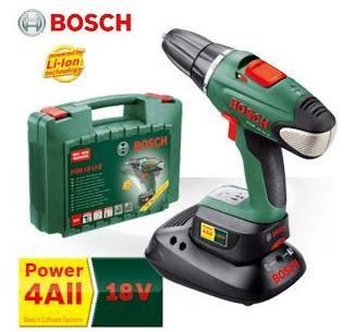 Akku-Bohrschrauber Bosch PSR 18 LI-2 mit einem Akku bei iBood für 115,90 Euro