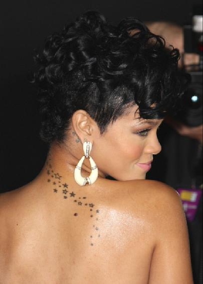 rihannas tattoo. rihanna tattoos and meanings.