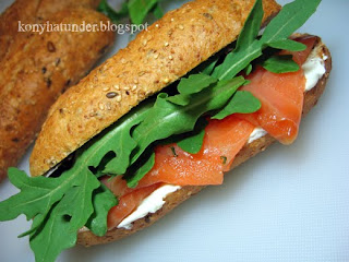 salmon-rocket-cream-cheese-sandwich