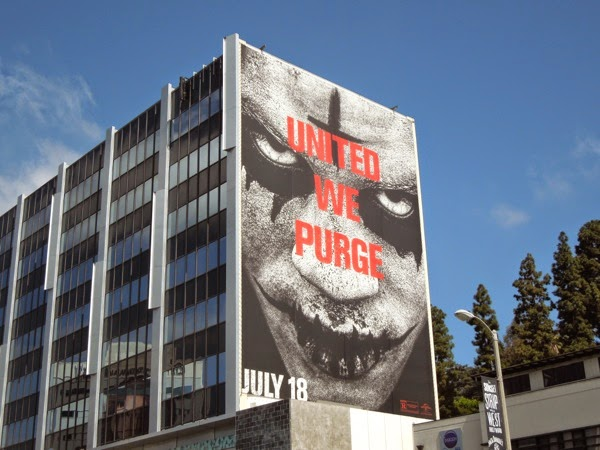 The Purge Anarchy giant movie billboard