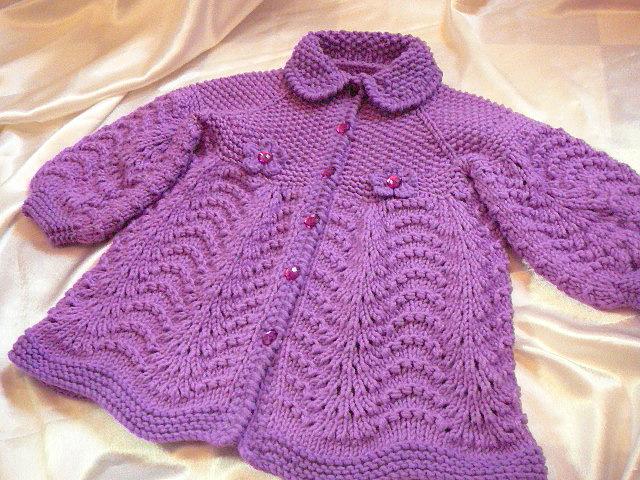Вязание спицами для девочек 2-3 лет со