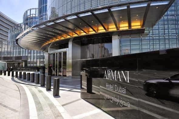 Wejście do hotelu ARMANI DUBAI