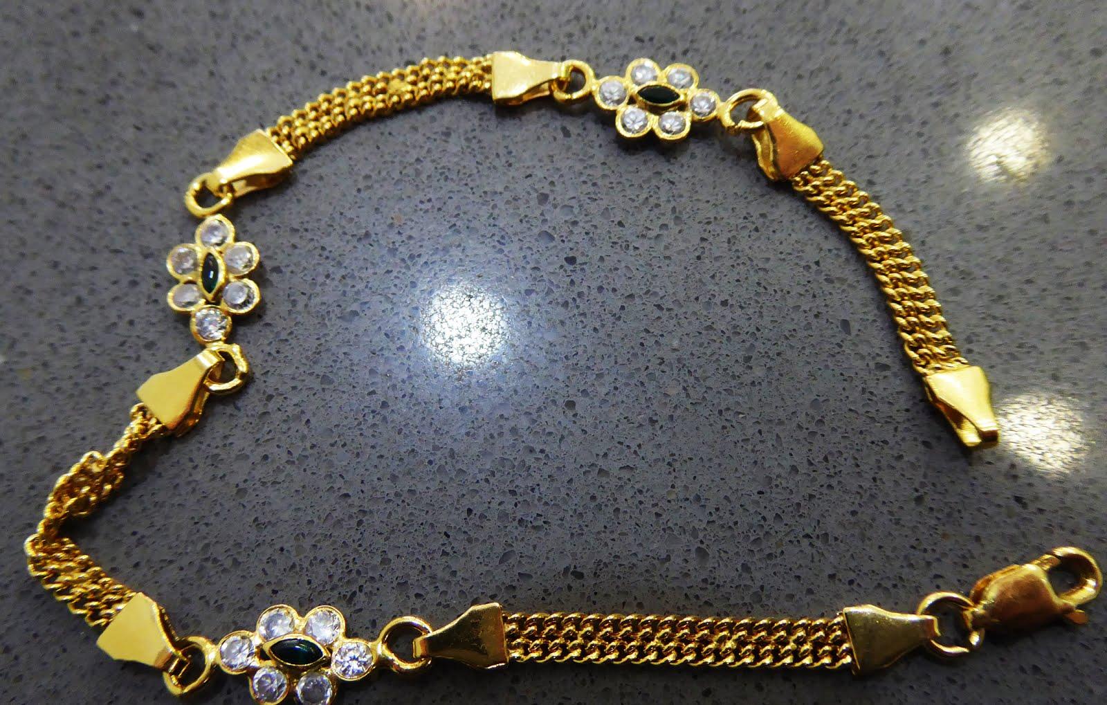 Preciosa pulsera de Goldfield y piedras