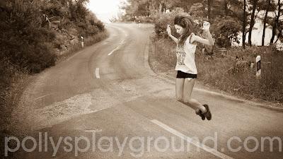 lea jumping for joy