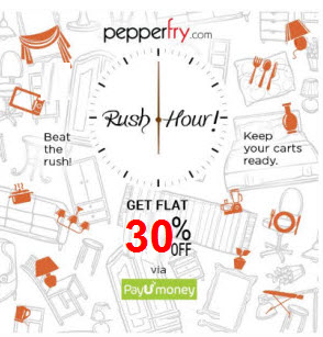 Pepperfry 30% Cashback