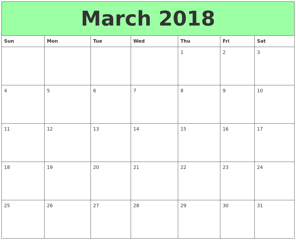 march 2018 calendar march calendar 2018 march 2018 calendar printable march 2018 calendar