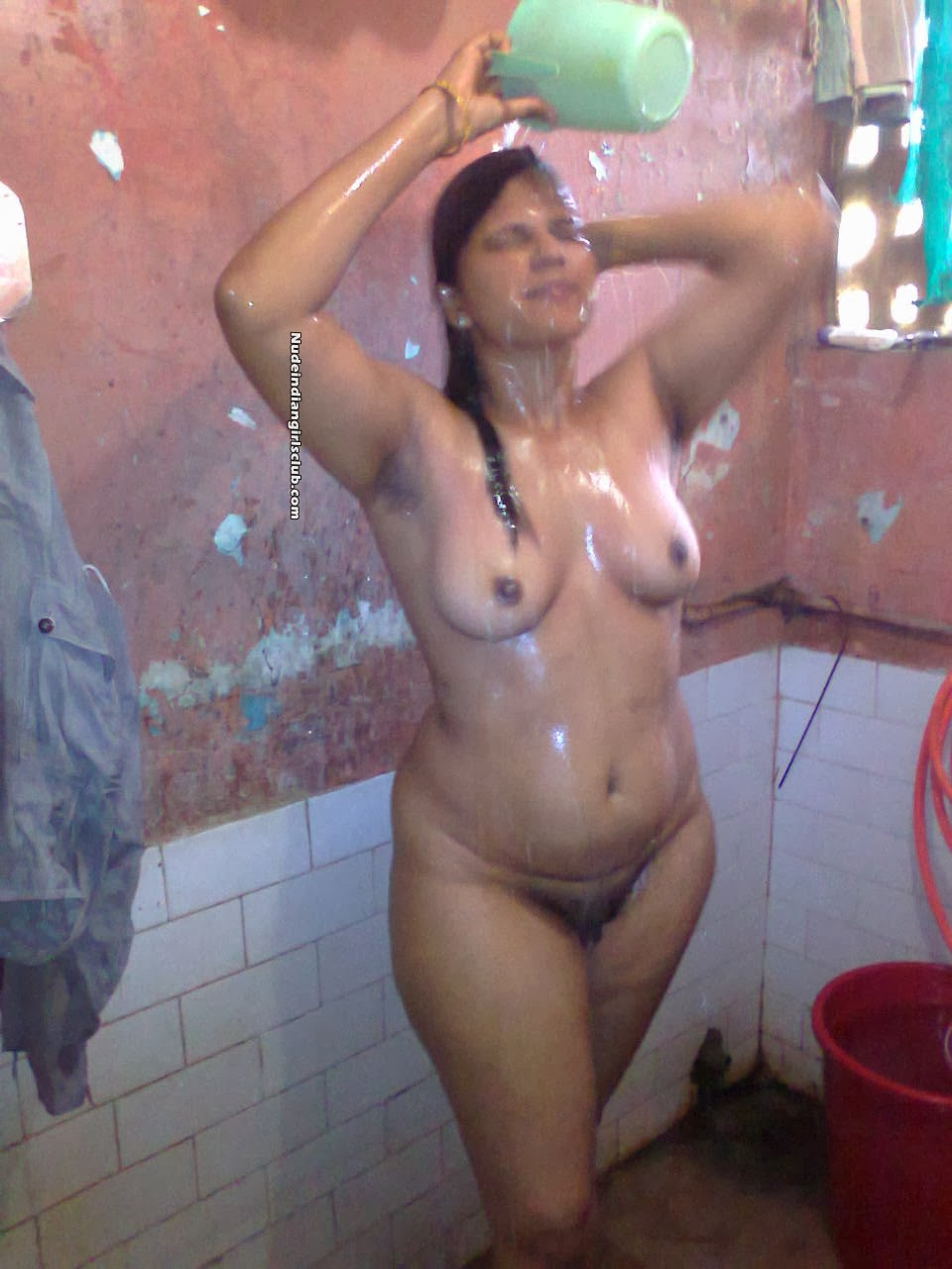 mexican girl poses naked