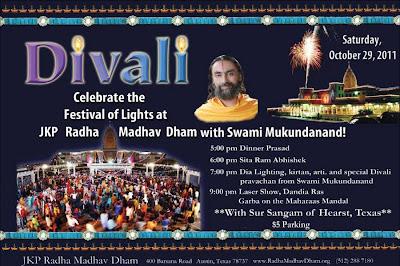 Celebrate Divali with Swami Mukundananda at Radha Madhav Dham
