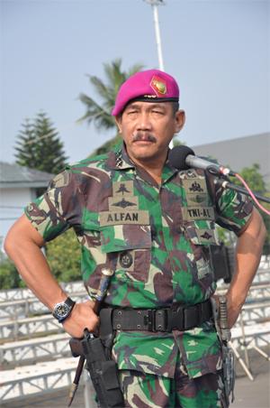 Komandan Korps Marinir  Letnan Jenderal TNI (Mar) M. Alfan Baharudin