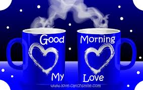 good morning love coffee mugs with heart