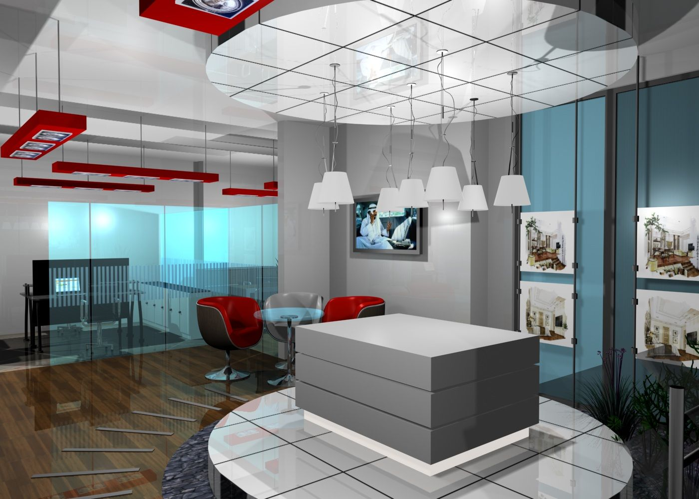 The first ferry platinum real estate office for Estate agency interior design