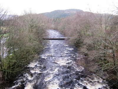 The River Gairn on Deeside on the walk from Ballater