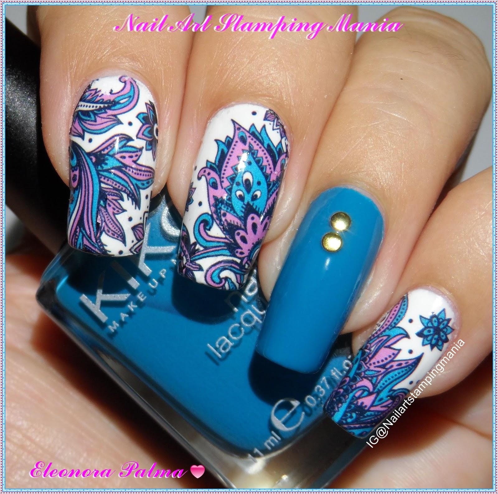 Paisley Nail Art: Nail Art Stamping Mania: Paisley Manicure With Born Pretty