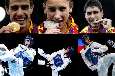 Medallistas de taekwondo en Londres 2012